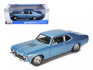 1970 Chevy Nova SS Super Sport Blue 1/18 Scale Diecast Car Model By Maisto 31132