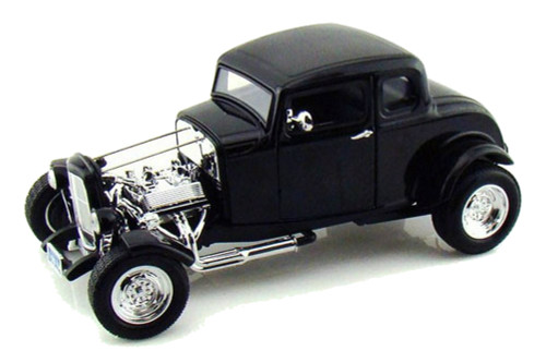 1932 Ford Hot Rod Black 1/18 Scale Diecast Car Model By Motor Max 73172
