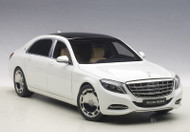 Mercedes Benz Maybach S Klasse S600 White 1/18 Scale Diecast Car Model By AUTOart 76291