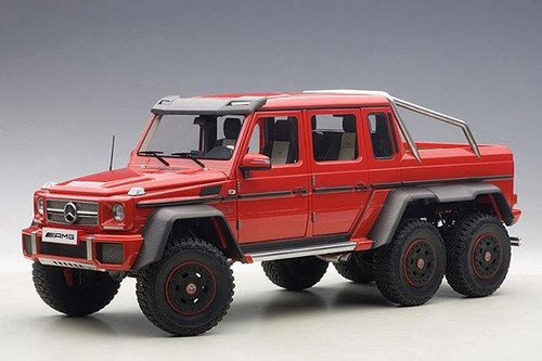 Mercedes Benz G63 AMG 6X6 Red 1/18 Scale Diecast Model Car By AUTOart 76304