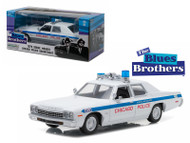 1975 Dodge Monaco Chicago Police Blues Brothers 1/24 Scale Diecast Car Model By Greenlight 84012