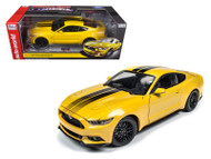 2016 Ford Mustang GT 1002 Made LE Yellow 1/18 Scale Diecast Car Model By AutoWorld AW2229