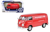 Volkswagen Type 2 Van Bus Porsche 1/24 Scale Diecast Car Model By Motor Max 79557
