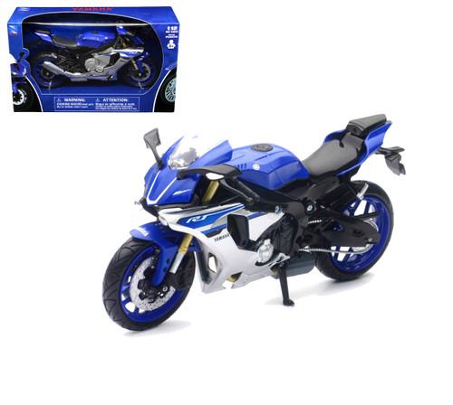 2016 Yamaha YZF-R1 Blue Motorcycle Bike 1/12 Scale By Newray 57803