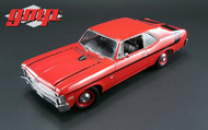 1970 Chevy Nova Yenko Deuce Cranberry Red 1/18 Scale Diecast Car Model GMP 18830