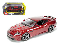 Jaguar XKR-S Burgundy 1/24 Scale Diecast Car Model by Bburago 21063