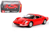 Ferrari 246 GTB Dino Red 1/24 Scale Diecast Model Car by Bburago 26015