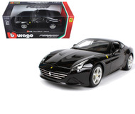 Ferrari California T Closed Top Black 1/24 Scale Diecast Car Model By Bburago 26002