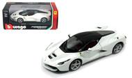 LaFerrari F70 White La Ferrari 1/24 Scale Diecast Car Model By Bburago 26001