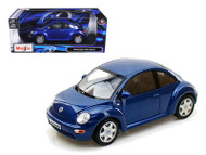 Volkswagen New Beetle Blue 1/18 Scale Diecast Car Model By Maisto 31875