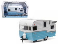 Shasta 15' Airflyte Trailer Blue 1/24 Scale Diecast Model By Greenlight 18229