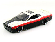 2008 Dodge Challenger SRT8 Black & White 1/24 Scale Diecast Car Model By Maisto 31327