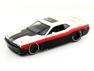 2008 Dodge Challenger SRT8 Black & White 1/24 Scale Diecast Car Model By Maisto 31327