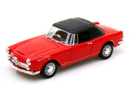 1960 Alfa Romeo Spider 2600 Soft Top Red 1/24 Scale Diecast Car Model By Welly 24003