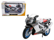 Aprilia RSV 1000 White Motorcycle 1/12 Scale Diecast Model By Maisto 31036