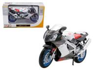 Aprilia RSV 1000 White Motorcycle 1/12 Scale Diecast Model By Maisto 31036