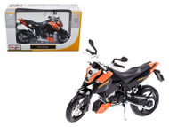 KTM 690 Duke Orange / Black Motorcycle 1/12 Scale Diecast Model By Maisto 31181
