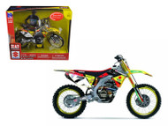 Suzuki RM-Z 450 #7 James Stewart Motorcycle Model 1/12 Scale By NewRay 57677