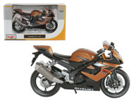 Suzuki GSX R1000 Bronze Motorcycle 1/12 Scale Diecast Model By Maisto 31106