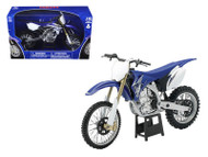 2009 Yamaha YZ450F Dirt Bike Blue Motorcycle 1/12 Scale Model By NewRay 57703