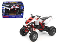2005 Yamaha 660R Raptor White & Red ATV Motorcycle 1/12 Scale Diecast Model By NewRay 42923