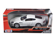 Aston Martin DB9 Coupe White 1/24 Scale Diecast Car Model By Motor Max 73321