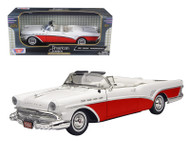 1957 Buick Roadmaster Convertible Red 1/18 Scale Diecast Car Model By Motor Max 73152