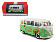 1959 Volkswagen T1 Samba Bus Coca Cola Flowers Version 1/43 Scale Diecast Model By Motor City Classics 478064