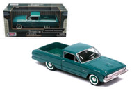 1960 Ford Ranchero Blue 1/24 Scale Diecast Car Model By Motor Max 79321