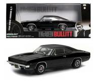 1968 Dodge Charger  R/T Steve McQueen BULLITT 1/43 Scale Diecast Car Model By Greenlight 86432