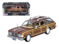 1979 Chrysler Lebaron Town and Country Burgundy 1/24 Scale Diecast Car Model By Motor Max 73331