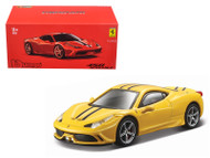 Ferrari 458 Speciale Yellow Signature Series 1/43 Scale Diecast Car Model By Bburago 36901