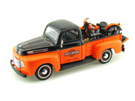 1948 Ford F1 Pick Up Truck & FL Panhead Harley Davidson Motorcycle 1/24 Scale Diecast Model By Maisto 32171