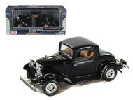 1932 Ford Coupe Black 1/24 Scale Diecast Car Model By Motor Max 73251
