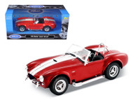 1965 Ford Shelby Cobra 427 S/C Red 1/24 Scale Diecast Car Model By Welly 24002