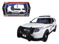 2015 Ford Police Interceptor Utility RCMP Royal Canadian Mounted Police Car with Light Bar 1/24 Scale Diecast Car Model By Motor Max 76961