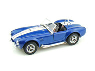 1965 Ford Shelby Cobra 427 S/C Blue 1/24 Scale Diecast Car Model By Welly 24002