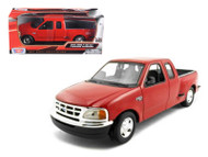 Ford F-150 Pickup Truck Flareside Supercab Red 1/24 Scale Diecast Model By Motor Max 73284