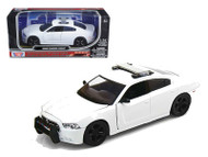 Dodge Charger Pursuit Unmarked White Police Car 1/24 Scale Diecast Car Model By Motor Max 76934