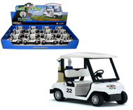 "Golf Cart Toy Car Box Of 12 Pull Back 5"" By Kinsmart Kids Fun KS5105"