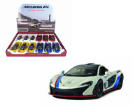 "McLaren P1 Toy Car Box Of 12 Pull Back 5"" 1/36 Scale By Kinsmart KT5393"