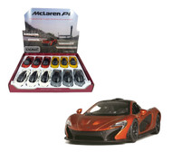 "McLaren P1 Toy Car Box Of 12 Pull Back 5"" 1/36 Scale By Kinsmart KT5393 D"