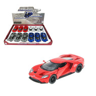 "2017 Ford GT Toy Car Box Of 12 Pull Back 5"" 1/38 Scale By Kinsmart KT5391 D"