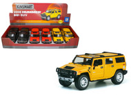 "2008 Hummer H2 SUV Box Of 6 7"" 1/32 Scale By Kinsmart KT7006"