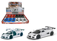"2010 Gumpert Apollo Sport Toy Car Box Of 12 Pull Back 5"" 1/36 Scale By Kinsmart KT5356"