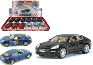 "Porsche Panamera S Toy Car Box Of 12 Pull Back 5"" 1/40 Scale By Kinsmart KT5347"