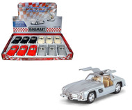 "1954 Mercedes Benz 300SL Toy Car Box Of 12 Pull Back 5"" 1/36 Scale By Kinsmart KT5346"