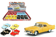 "1955 Ford Thunderbird T-Bird Toy Car Box Of 12 Pull Back 5"" 1/36 Scale By Kinsmart KT5319"