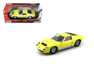 Lamborghini Miura P400 S Yellow 1/24 Scale Diecast Car Model By Motor Max 73368
