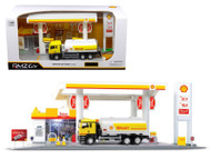 Shell Service Gas Station With Tanker Play Set 1/64 Scale By RMZ City 24444 Shell